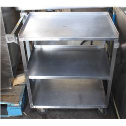 3-TIER STAINLESS STEEL COMMERCIAL SERVICE CART