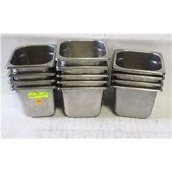 16 STAINLESS STEEL 1/6-SIZE INSERTS-4""