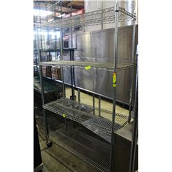 4-TIER CHROME-WIRE COMMERCIAL STORAGE RACK