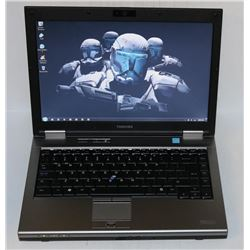 TOSHIBA TECRA WIN 7 PRO LAPTOP WITH AC ADAPTER