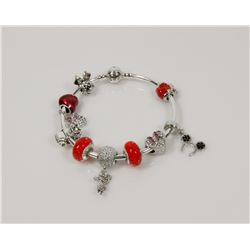 NEW! PANDORA STYLE CHARM BANGLE BRACELET