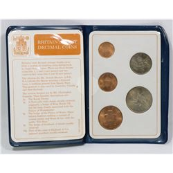 BRITAIN'S FIRST DECIMAL COINS PRESENTATION SET.