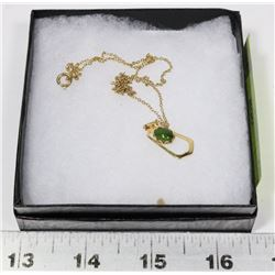 18KT JADE STONE NECKLACE