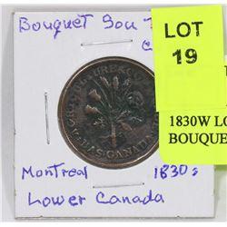 1830W LOWER CANADA SOU BOUQUET TOKEN