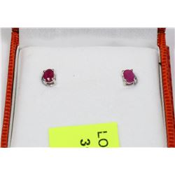 .925 SILVER RUBY EARRINGS