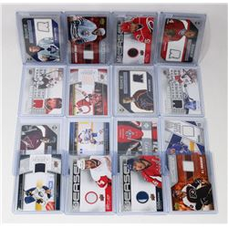 LOT OF 16 UPPERDECK JERSEY HOCKEY CARDS -