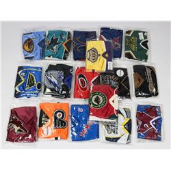 LOT OF 17 UPPER DECK NHL MINI JERSEYS - ASSORTED