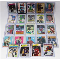 LOT OF 24 OPEECHEE HOCKEY CARDS - 1970S & 1980S.