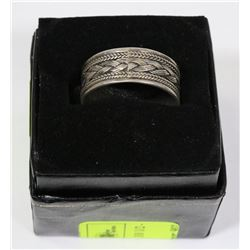 .925 SILVER MEN'S RING - SIZE 10 1/2 -
