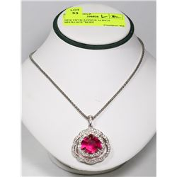 "NEW FIFTH AVENUE 16 INCH NECKLACE ""RUBY"