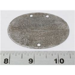 GERMAN WWII SS VALLONIEN DIVISION DOG TAG.