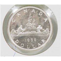 CANADIAN BRILLIANT UNC 1966 SILVER $1 COIN