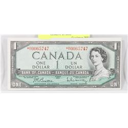 1954 CANADIAN ASTERISK H/Y REPLACEMENT $1 BILL