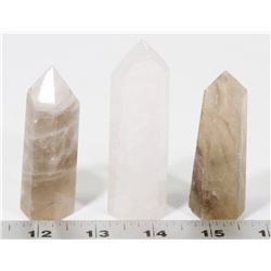GROUP OF 3 HEALING CRYSTALS