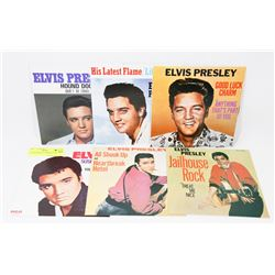 6 ELVIS PRESLEY 45 RPM RECORDS
