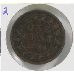 1884 CANADIAN QUEEN VIC LARGE CENT