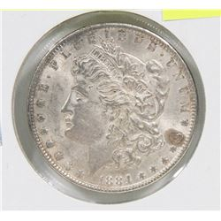 1884 US MORGAN SILVER $1 COIN