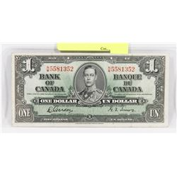 1937 CANADIAN GORDON/TOWERS $1 BILL