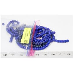 BAG OF BLUE STONE BEADS