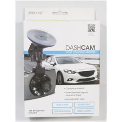 NEW PILOT HD DASHCAM W/ MEMORY CARD