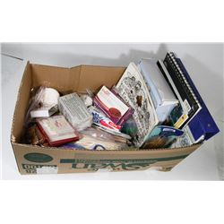 BOX FULL OF ARTS & CRAFTS SUPPLIES INCL.