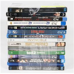 BUNDLE OF 15 BLU-RAY DVD MOVIES -
