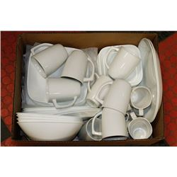 BOX W/42-PC CORELLE DISHWARE SET INCL. LG