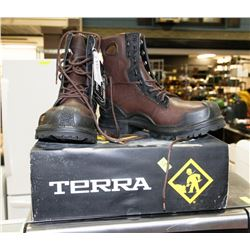 TERRA SZ 10.5 STEEL TOE WORK BOOTS