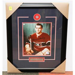 MAURICE RICHARD AUTOGRAPHED & FRAMED PICTURE W/