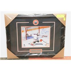 GRANT FUHR  AUTOGRAPHED & FRAMED PICTURE W/