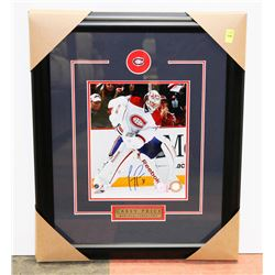 CAREY PRICE  AUTOGRAPHED & FRAMED PICTURE W/