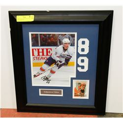 SAM GAGNER FRAMED AND SIGNED PHOTO, NO COA