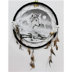 "NEW LARGE 24"" WIDE WOLF DREAMCATCHER"