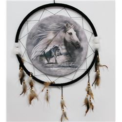 "NEW LARGE 24"" WIDE HORSES DREAMCATCHER"