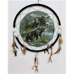 "NEW LARGE 24"" WIDE BEARS DREAMCATCHER"