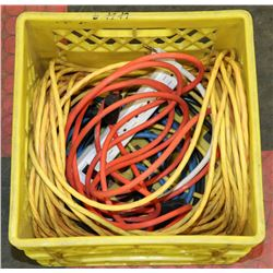CRATE OF EXTENSION CORDS INCLUDES 75'
