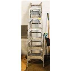 PAIR OF A FRAME LADDERS ONE IS ADJUSTABLE
