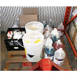 PALLET OF CLEANING SUPPLIES