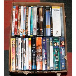 BOX OF 62 ASSORTED DVDS