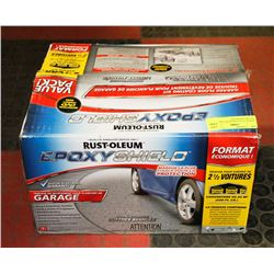 NEW RUST-OLEUM EPOXY SHIELD 2 1/2 CAR GARAGE KIT