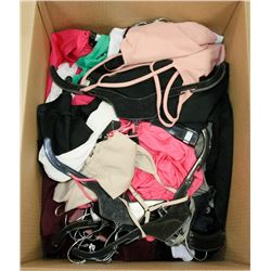 BOX OF ASSORTED CLOTHING APPEARS TO BE MOSTLY