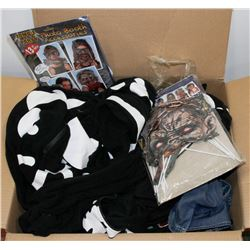 LARGE BOX OF HALLOWEEN COSTUMES AND OTHER