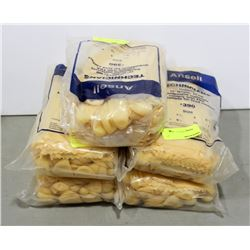 5 BAGS OF ANSEL UNLINED 12  FOOD CONTACT GLOVES