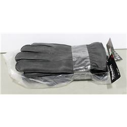 2 PAIR THINSULATE LEATHER WORK GLOVES, SIZE XXL