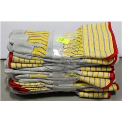 6 PAIR OF GANDERBRAND WORK GLOVES