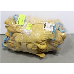 BUNDLE OF ANSELL GOLDKNIT WORK GLOVES WITH GRIPS