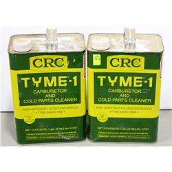 2 CANS CRC TYME-1 CARBURATOR & COLD PARTS CLEANER