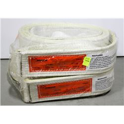 LOT OF 2 NYLON STRAPS, VERTICAL 8800LBS