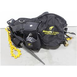 PYTHON FALL PROTECTION SAFETY TOOL BELT, INCLUDES