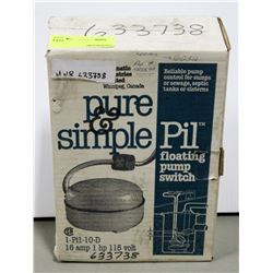 PURE & SIMPLE FLOATING PUMP SWITCH